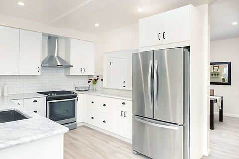 French Door Refrigerator and Oven