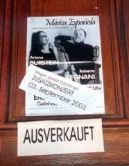 Burstein & Legnani - Konzert Ausverkauft