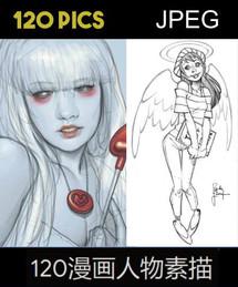 120 Comics Characters Sketchs