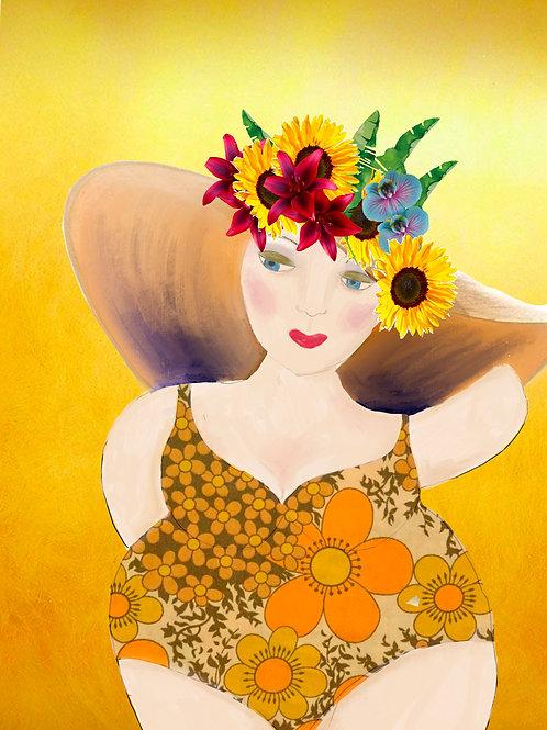 Sunflower Bathing Beauty