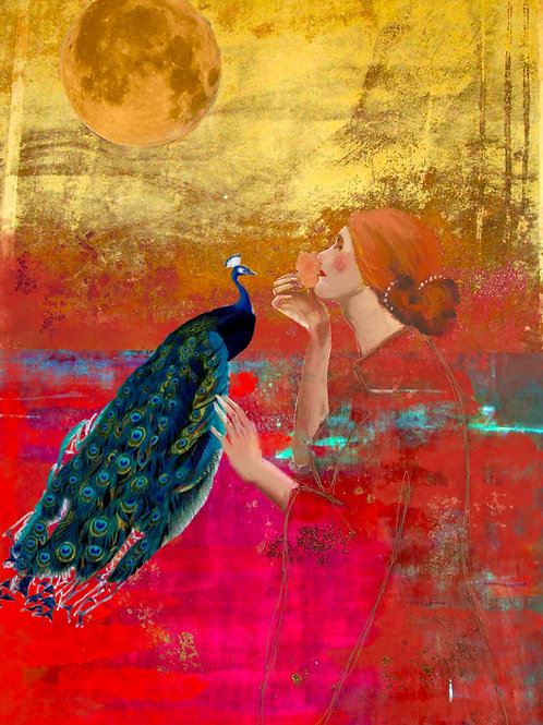 Lady & Peacock (warm)