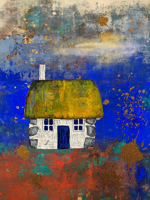 Scottish Bothy (blue & gold)