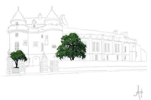 Falkland Castle (Line Drawing)