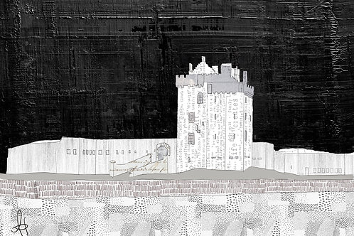Broughty Ferry Castle (Black & White))
