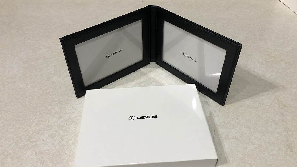 Authentic Lexus magnetic leather bifold photo frame