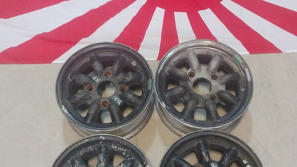 "12"" Watanabe wheels. 12x5 4x4.5 backspace 3 5/8"""