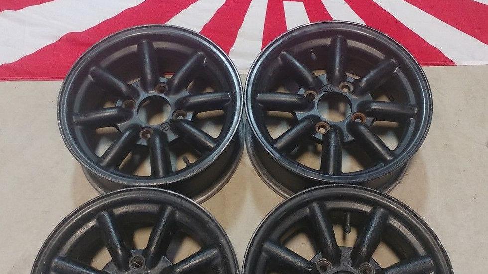 "14"" Watanabe wheels. 14x6 4x4.5 ET22"