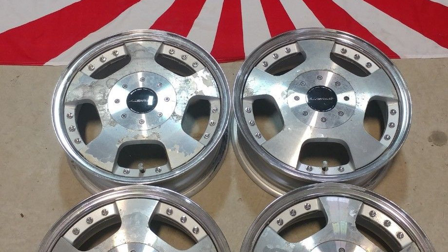 14x5 3 piece RIVERSIDE WHEELS. 4X100 ET45
