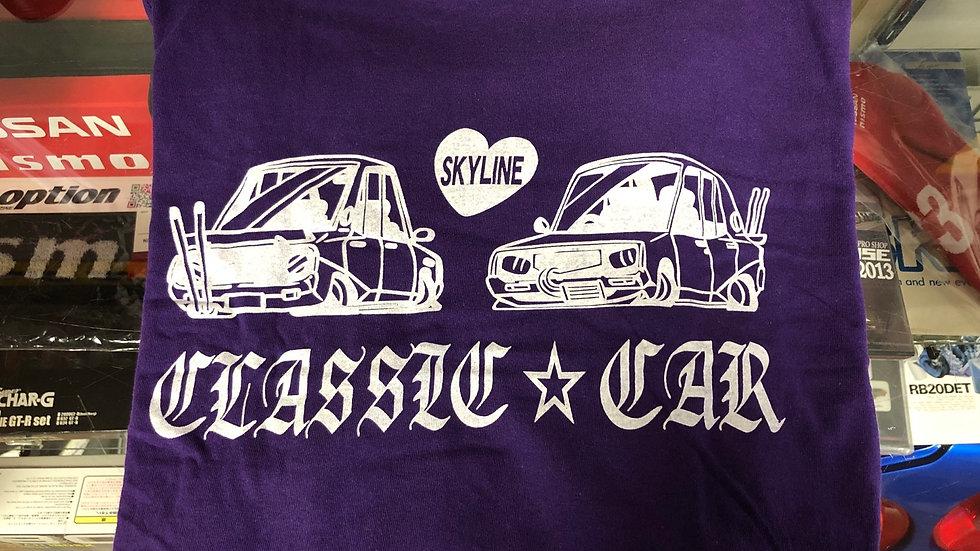 Classic Car Purple Skyline Bosozoku Shirt