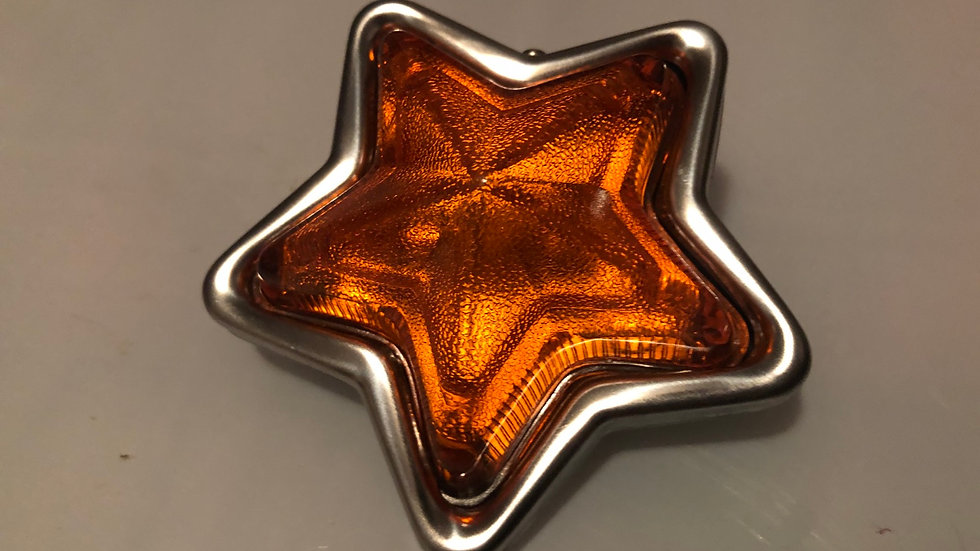 12v Orange Star Light  SINGLE LIGHT