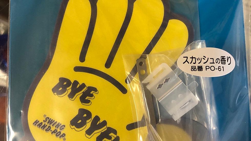 """""""Bye-Bye"""" Swing Hand Pop Air Feshener"""