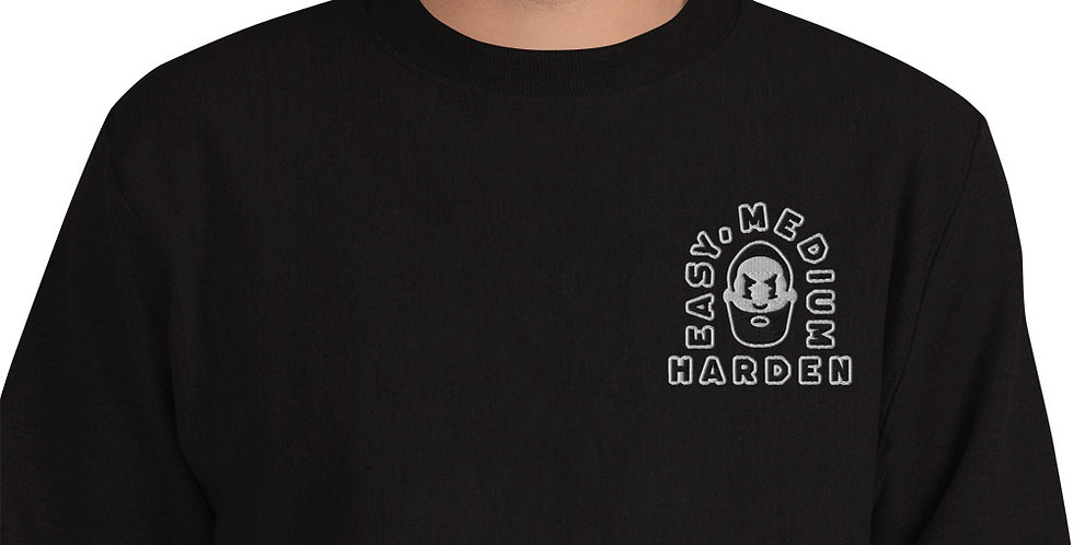 Easy, Medium, Harden Sweatshirt Black