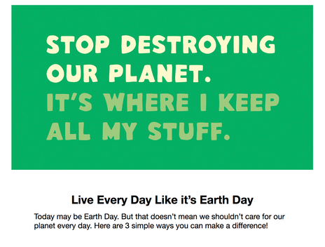 Earth Day Email