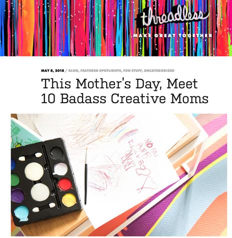 #MomsWhoMake - Artist Shop Spotlight blog post
