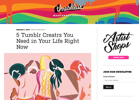 """Blog Post: """"5 Tumblr Creatrs You Need in Your Life Right Now"""""""