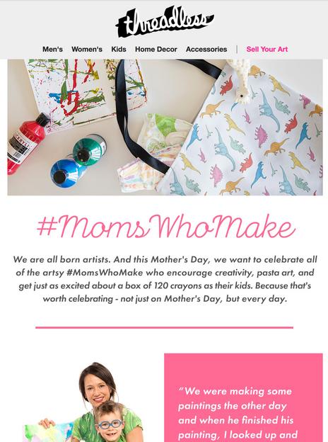#MomsWhoMake Email