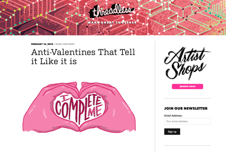 "Blog: ""Anti-Valentine's That Tell it Like it is"""