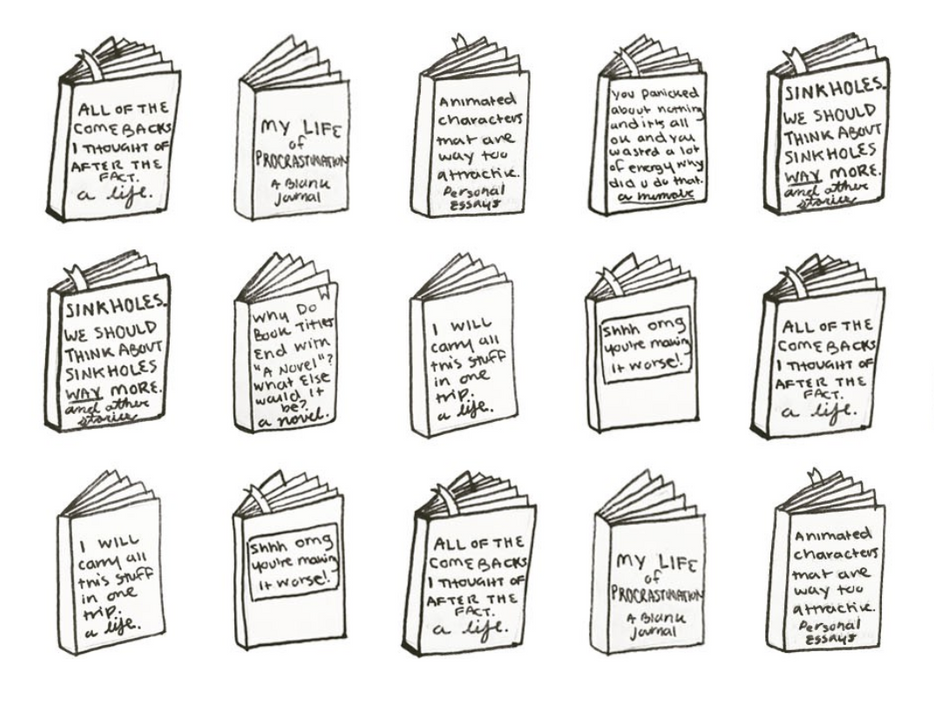 """Comebacks I Thought of After the Fact: A Memoir"" And Other Doodled Biography Titles!"