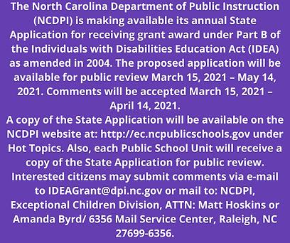 The North Carolina Department of Public