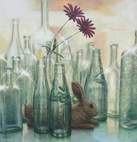 """YEAR OF THE RABBIT"" Original Painting by Artist David Ruhe"