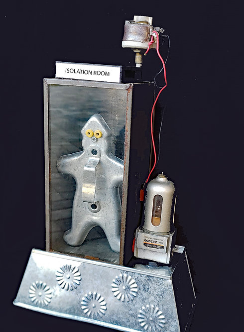 """""""Isolation Room""""  Found object art by Mike Danley"""