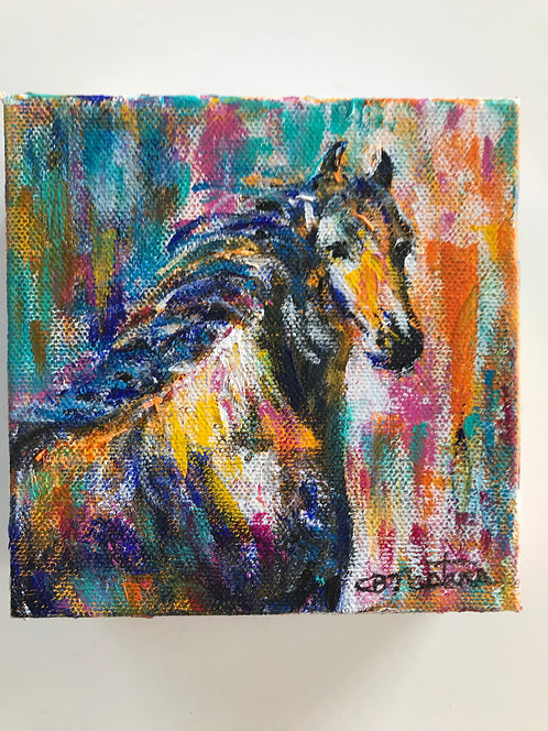 """Spirited"" original acrylic painting by Carole Nastars"