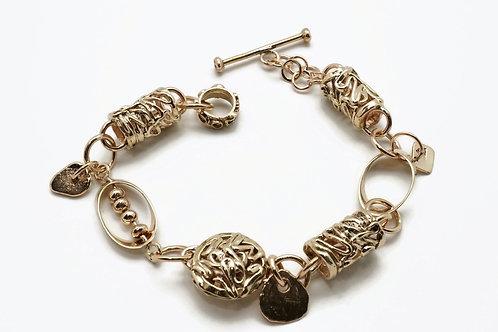 """Kathleen Dennison """"Woven Magic"""" 14k Gold Bracelet"""