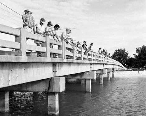 """""""Fishing at Blind Pass""""Vintage picture by famed photographer Charlie McCullough"""