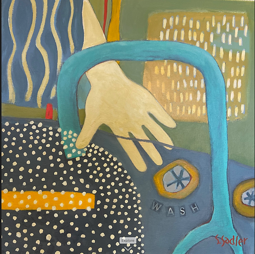 """""""Wash"""" now available in 16x16 giclee print (original painting sold) Susan Sadler"""