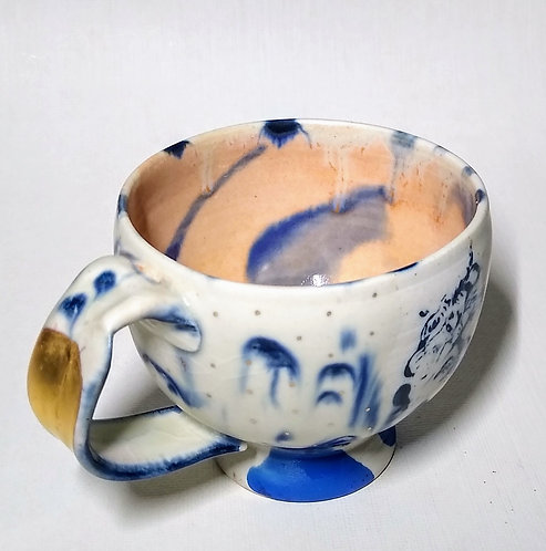 "Ludmila Evans.   One of a kind ""Blues Demitasse"""