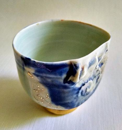 """""""Teeming"""" Original porcelain vessel by Ludmila Evans"""