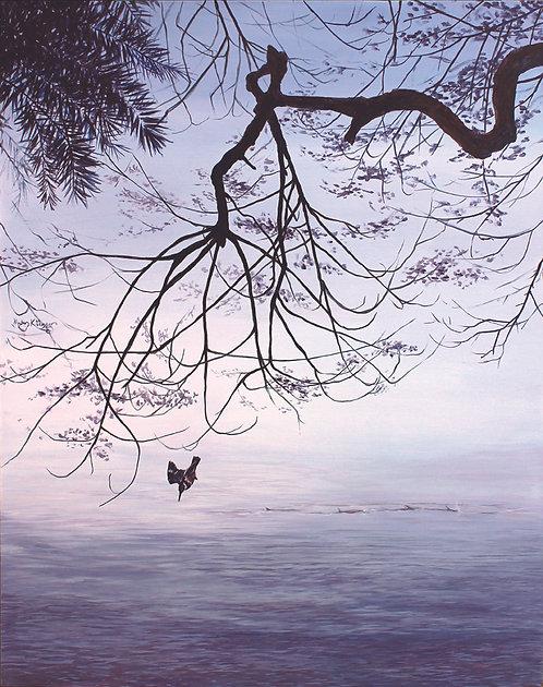 """Sport Of Kings: Kingfisher & Tarpon fish,"" Original Acrylic by Megan Kissinger"