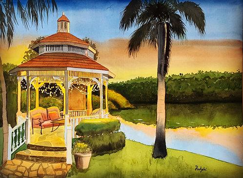 """""""Sanibel Sanctuary"""" Original Watercolor painting by Artist Shah Hadjebi"""