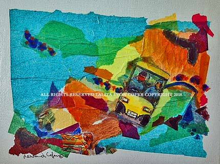 """Sanibel Hot Rod"" Original on canvas by Lalita Cofer"
