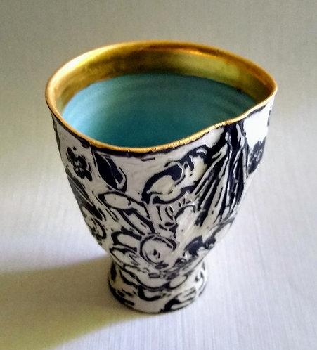 """Catching the Breeze"" $58 Original porcelain vessel by Ludmila Evans"