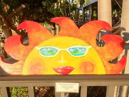 """Sunny Sanibel"" Original acrylic painting on wood by Kelly Morrison"