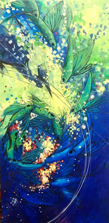 """Trajectory"" Original Acrylic Painting by Megan Kissinger"
