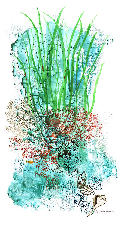 """""""Flora of the Deep III"""", Original Watercolor by Christine Reichow"""