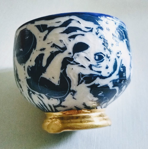 """Ludmila Evans """"The Pompadour"""" an original porcelain vessel $58"""