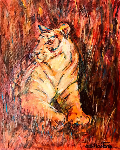 """Regal"" Original acrylic painting on gallery wrapped canvas by Carole Nastars"
