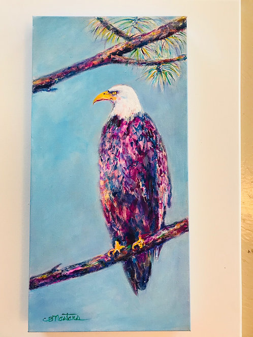 """Proud to be an American"" Original acrylic painting by Carole Nastars"