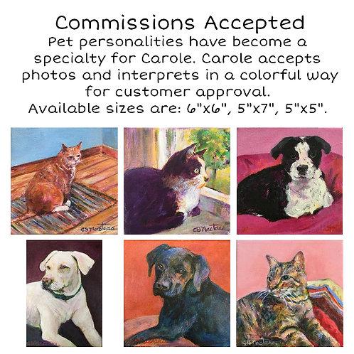 Pet Portrait Custom-Made For You! by Artist Carole Nastars