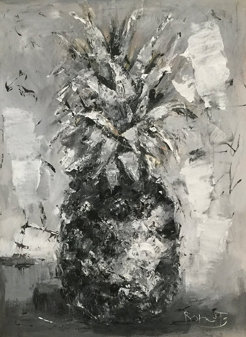 """The Pineapple"" Original Oil Painting by Joan Roberts"