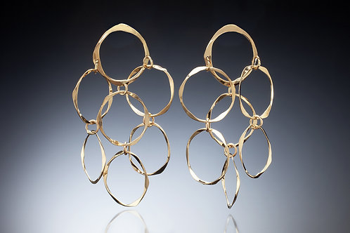 Kathleen Dennison earrings of 14k gold Gold Chandeliers