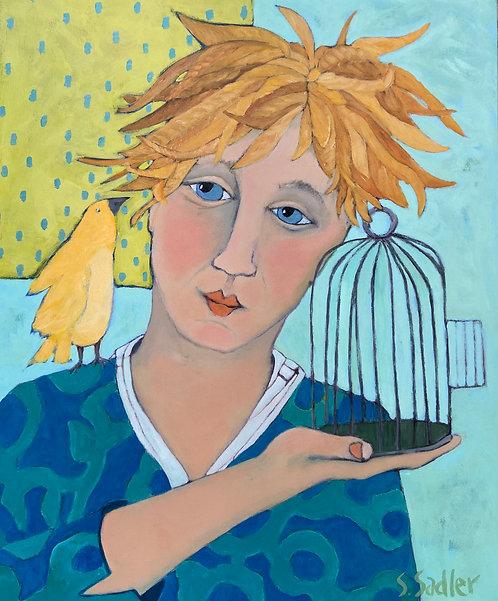 "Susan Sadler original ""Free Bird"" acrylic on canvas. $495"
