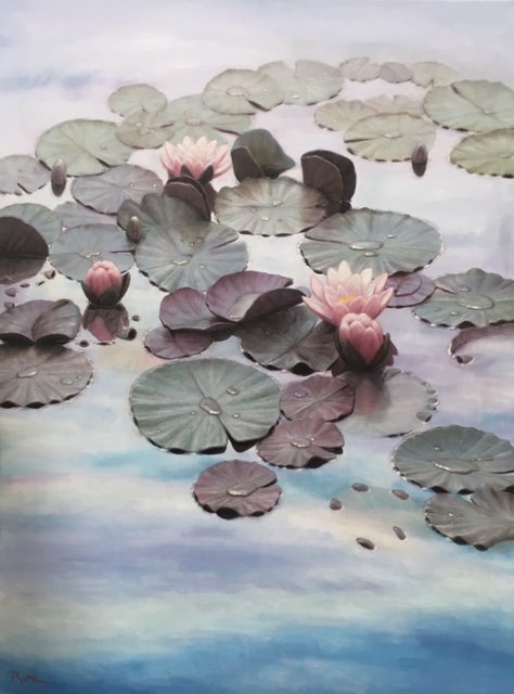 """""""Pool of Tranquility"""" Original Painting by Artist David Ruhe"""