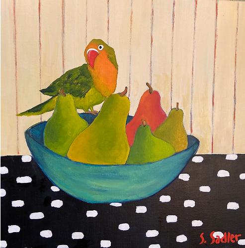 """Sweet Talker"" original acrylic painting on canvas by Susan Sadler"