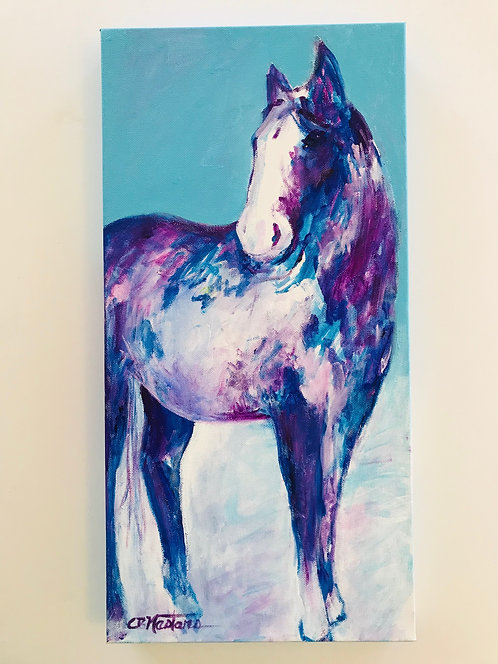 """Painted Pony"" acrylic painting by Carole Nastars"