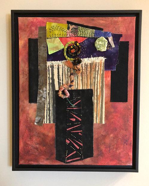 """""""Kimono"""" Fiber Art by Sally Dutko"""