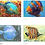 Thumbnail: Your Choice Any 8 Fish Cards from Original Paintings by Joan Roberts